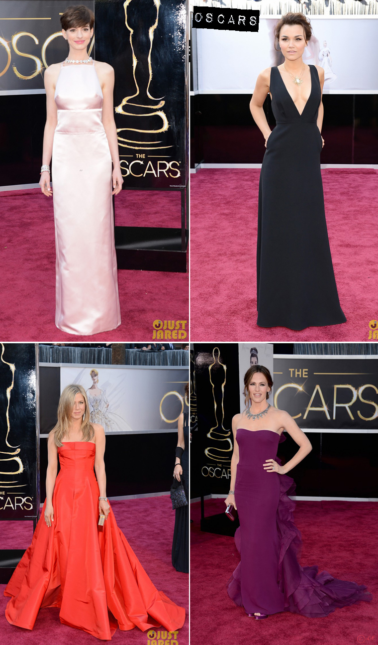 cesar-vs-oscars-2013-red-carpet-anne-hathaway-jenifer-aniston