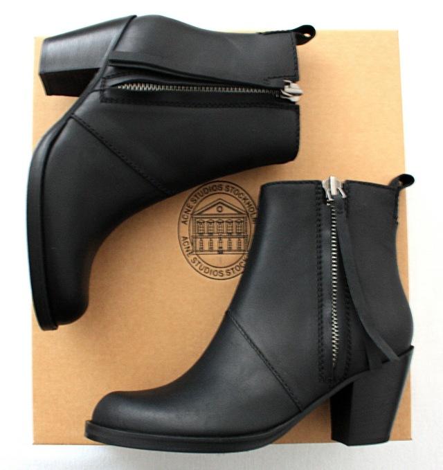 acne pistol short boots black