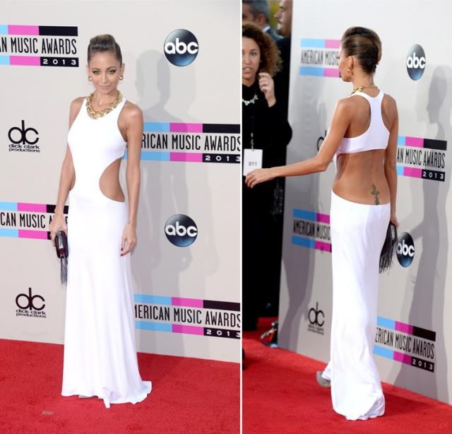 Nicole-RIchie-in-Emilio-Pucci-2013-American-Music-Awards-AMAs-White-dress