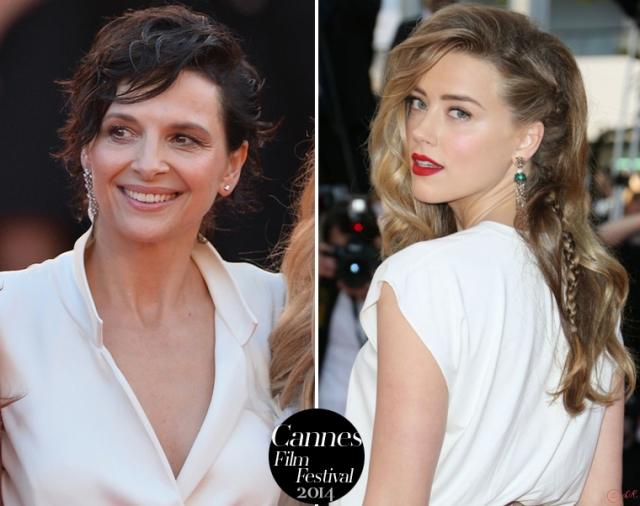 Juliette-Binoche-Amber-Heard-Cannes-Film-Festival-2014-Red-carpet-Armani-Prive-Vionnet-2