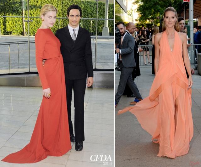 CDFA-2014-red-carpet-New-York-3-Greta-Gerwig-Heidi-Klum