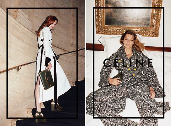 4-Le-Fashion-Blog-Daria-Werbowy-Celine-FW-2014-Ad-Campaign-By-Juergen-Teller-Wedge-Sandals-Green-Clutch