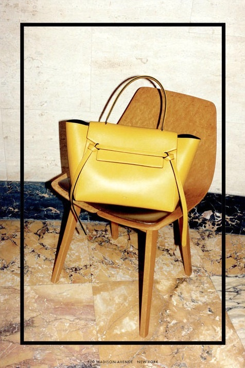 6-Le-Fashion-Blog-Daria-Werbowy-Celine-FW-2014-Ad-Campaign-By-Juergen-Teller-Yellow-Belt-Bag