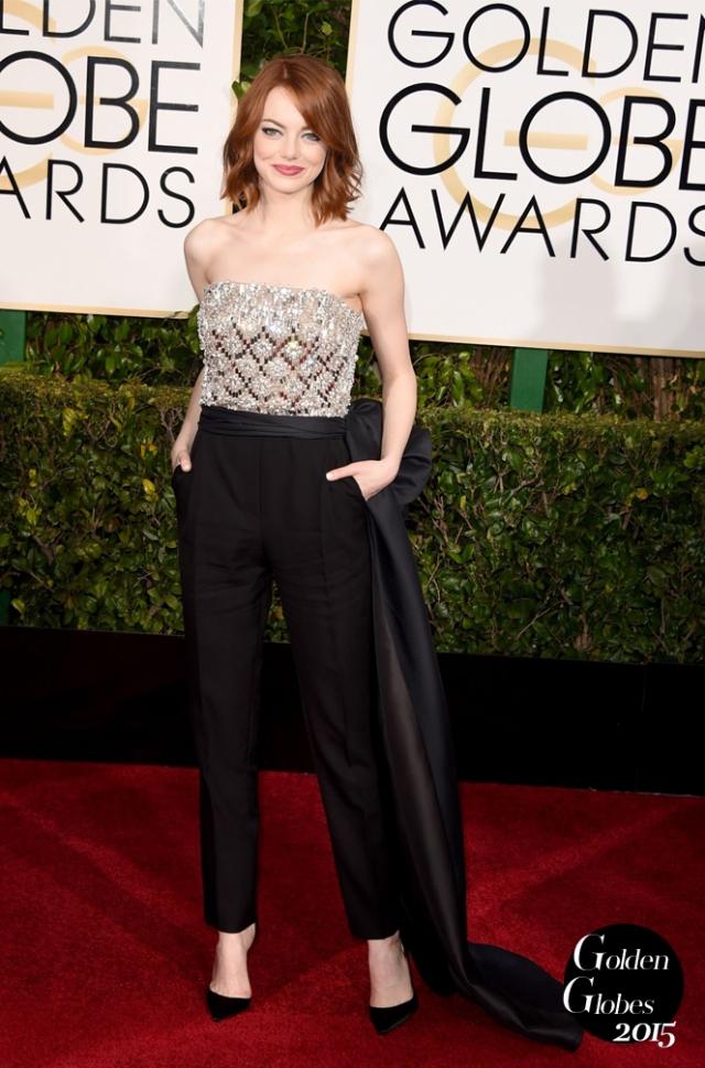Golden-Globes-2015-leslie-mann-emma-stone-claire-danes-red-carpet-emma-stone