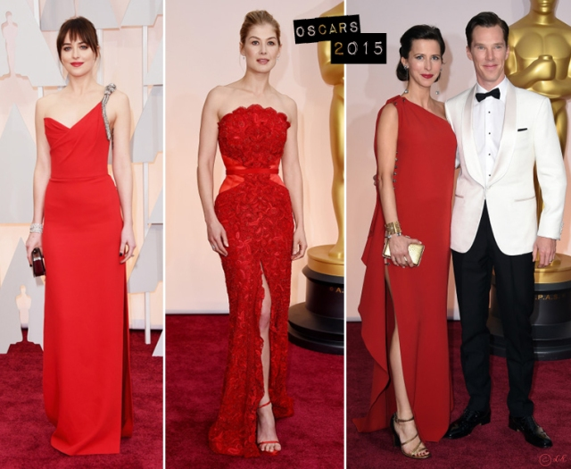 Oscars-awards-2015-fashion-red-carpet-2-Dakota-Johnson-Saint-Laurent-Rosamund-Pike-Givenchy-Sophia-Hunter-Lanvin
