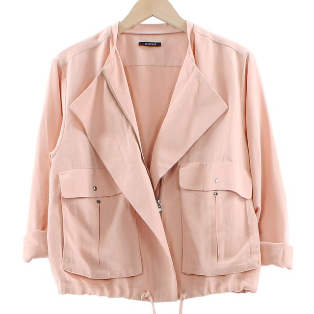 blouson-zippé-rose-promod